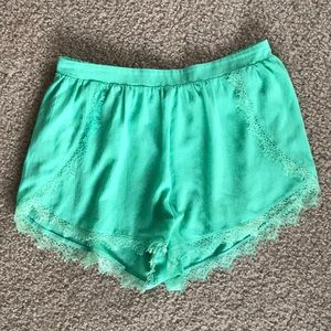 Green shorts by Lush, lightly used